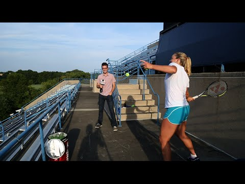 2014 Connecticut Open: Coco Vandeweghe's Sky-High Stadium Serve