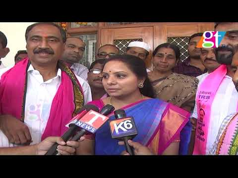 Mp Kavitha Satirical Comments On Congress Party   Election 2018   TRS    Great Telangana TV