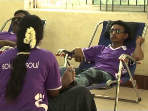 Shorinji Kempo India helps the Blind with Reflexology Image 1