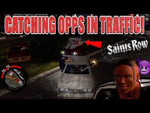 """LOC DOG CATCHING OPPS IN TRAFFIC! ( FUNNY """"SAINTS ROW"""" GAMEPLAY #5)"""