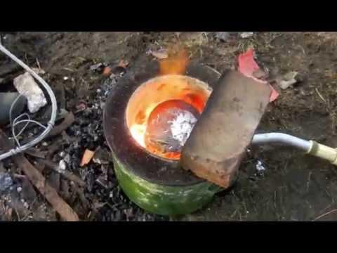 Как в домашних условиях плавить металл в 422