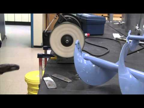 Foolproof hand auger sharpening method