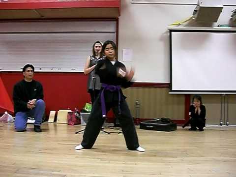 Karate Girl Purple Belt Form
