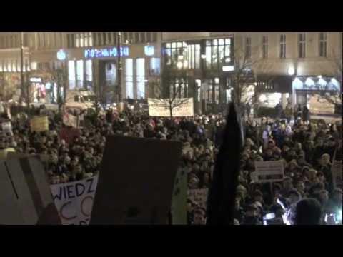 Demonstracja ACTA W Poznaniu 26.01.2012