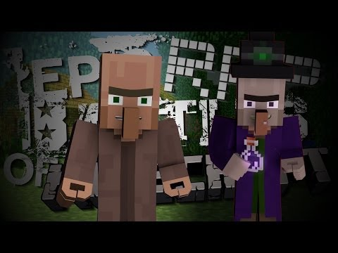 Witch vs Villager. Epic Rap Battles of Minecraft Season 2. Animated