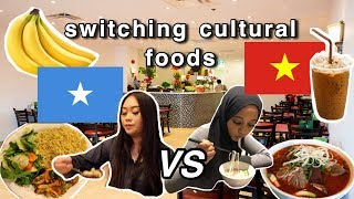 WE SWITCH CULTURAL FOODS FOR A DAY!!! (SOMALI TRIES VIET FOOD)