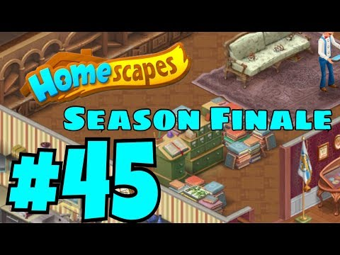 HOMESCAPES Gameplay Story Walkthrough Part #45 | New Library Area Day 1 Ending