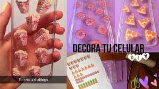 Shablogs diy - Como decorar una funda de movil ...