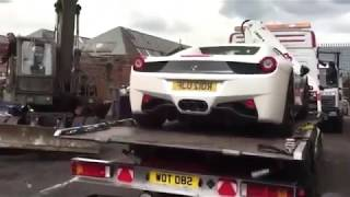 Dh1 million Ferrari destroyed in seconds