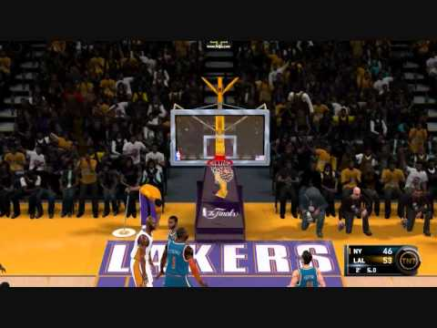 NBA 2K11 The Finals Los Angeles Lakers New York Knicks Game 2