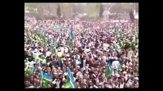 A Very Warm Welcome Of Syed Munawar Hasan In JI Jalsa @ Batkhela - 21 March 2012.flv