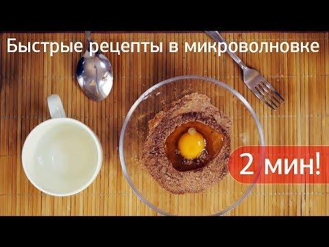 Вкусные и быстрые рецепты для микроволновки