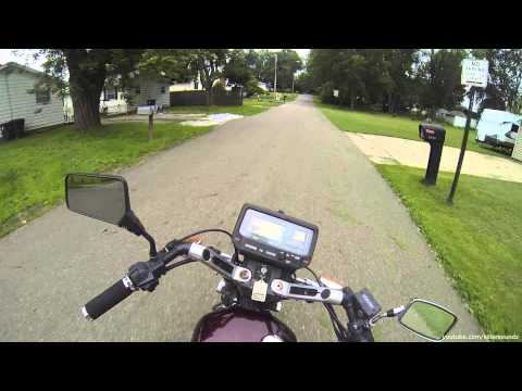 Yamaha Virago 920 Cold Start and Ride around Neighborhood