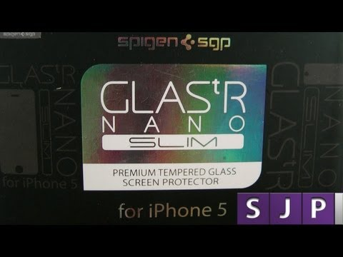 Spigen GLAS tR Nano Slim Unboxing and Review iPhone 5S 5