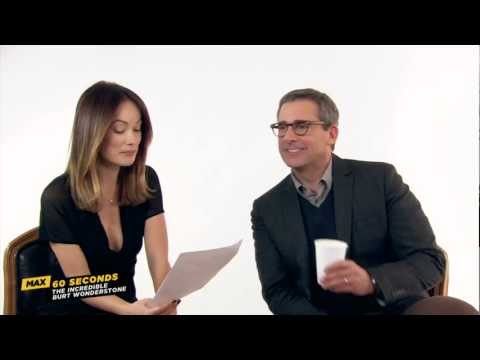 MAX 60 Seconds with Steve Carell (The Incredible Burt Wonderstone)