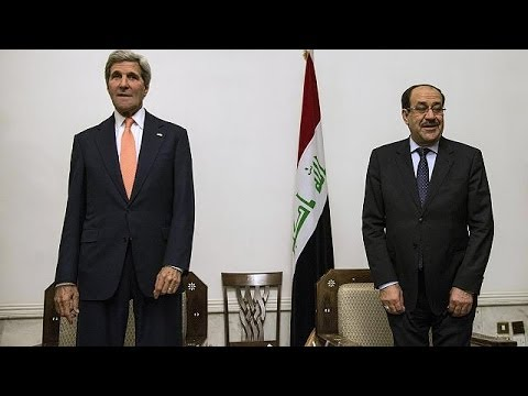 John Kerry offers 'intense and sustained' US support for Iraqi security forces