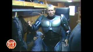 Robocop on set and getting suited up for the 1987 film.