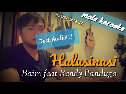 Download Halusinasi - Baim feat Rendy Pandugo male karaoke Mp4 baru