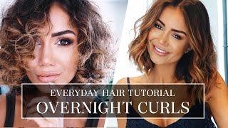 HAIR TUTORIAL - HOW I DO MY CURLY HAIR - LONG BOB HAIR STYLE TUTORIAL FOR A TEMPORARY CURL