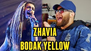 "Download Lagu ""D-GiBBY Reacts"" ZHAVIA - BODAK YELLOW (Cardi B Cover) THE FOUR Gratis STAFABAND"
