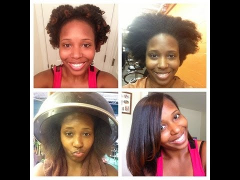 1st Natural Hair Press And Curl In Over A Year YouTube