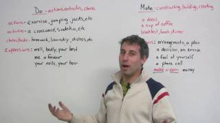 English Grammar - DO & MAKE -