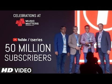 Music Matters: T-SERIES Awarded For Surpassing 50 Million Subscribers On YouTube