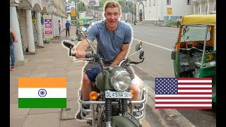 AMERICAN rents MOTORCYCLE in INDIA! (Royal Enfield)