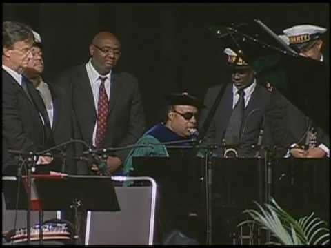 Stevie Wonder Singing at Tulane