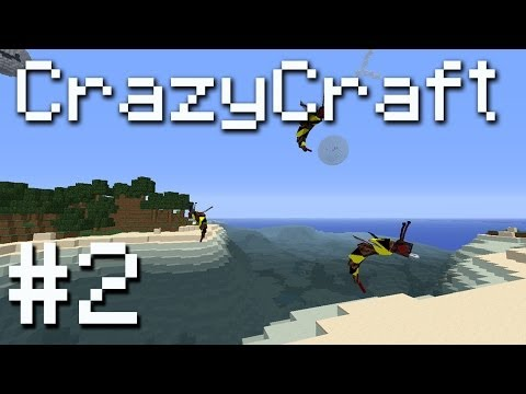 CrazyCraft Minecraft Modpack - Giant Bees, Water Dragons and Tapeworms! #2