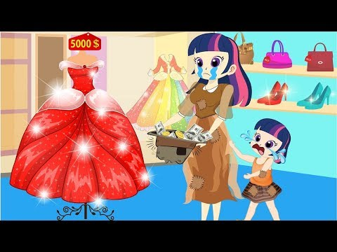 Equestria Girls - The school stories funny story - Cartoon for Kids - Collection