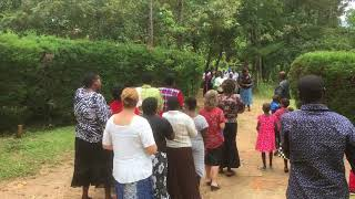 Kalenjin women greeting one another