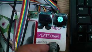 SPI interfacing an OLED display for fast display updates using the cortex M4 on the UDOO Neo