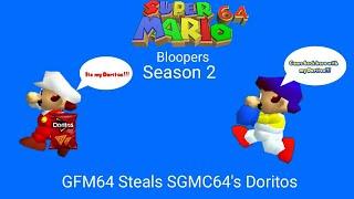 Super Mario 64 Bloopers: Season 2 Episode 3 GFM64 Steals SGMC64's Doritos