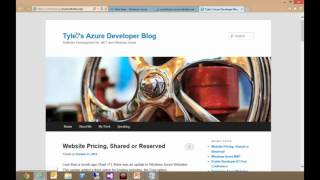 Windows Azure Virtual Workshop Cloud Variations Windows Azure Web Sites