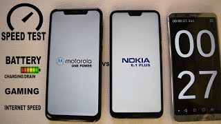 NOKIA 6.1 PLUS VS MOTO ONE POWER #Speed #Gaming#battery charging/Drain #internet
