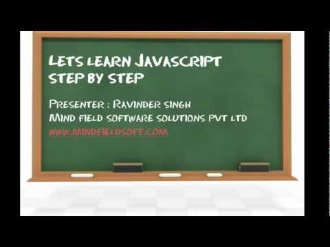 Javascript Video Tutorial 1 - Learn Javascript Step by Step