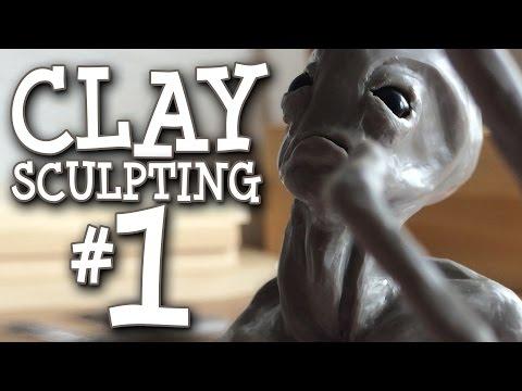 Alien Clay Sculpture - Super Sculpey