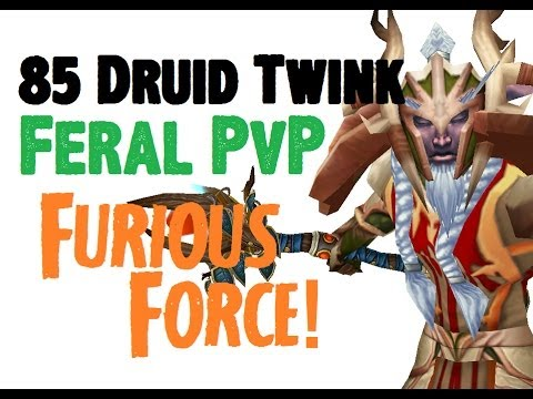 Asterial - Level 85 Feral Druid Twink Pvp - Mop Patch 5.4.8 video