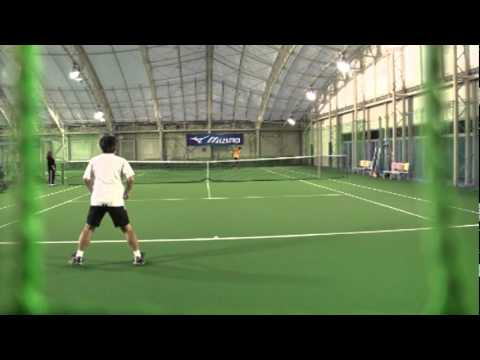 Tennis シングル1セットマッチ シニア選手(60歳)VSジュニア選手(16歳)