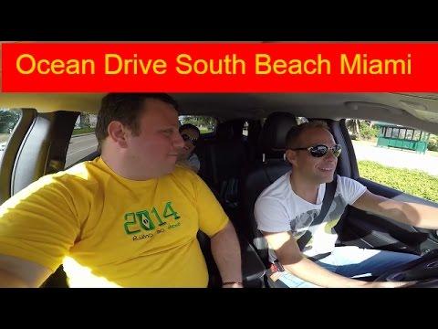 Ocean Drive South Beach Miami and Miami Open Tennis With Rafael Nadal & Novak Djokovic