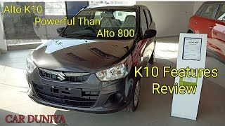 Maruti Alto K10-VXI-All Features Covered