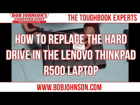 How to replace the Hard drive in the Lenovo Thinkpad R500 Laptop