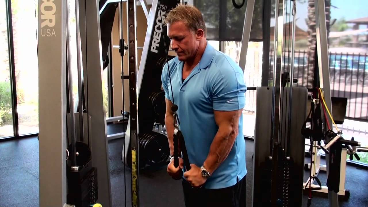 rope tricep pushdown youtube