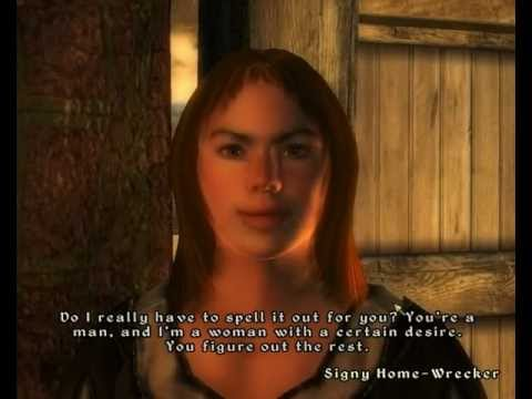 Getting lucky in oblivion.......sex yes please!