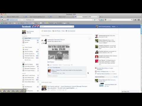Facebook's New Home Screen - Ticker & Birthdays