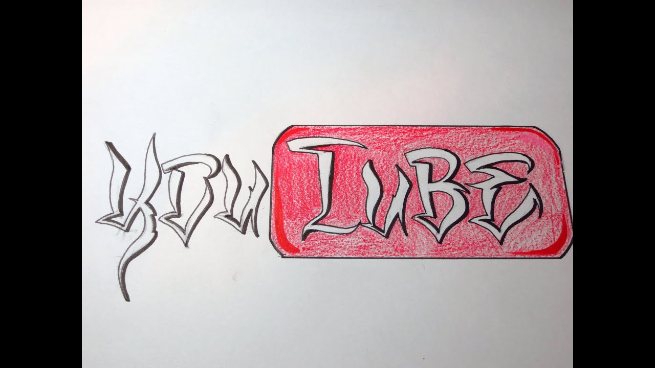 R Graffiti Letters How To Draw You Tube L...