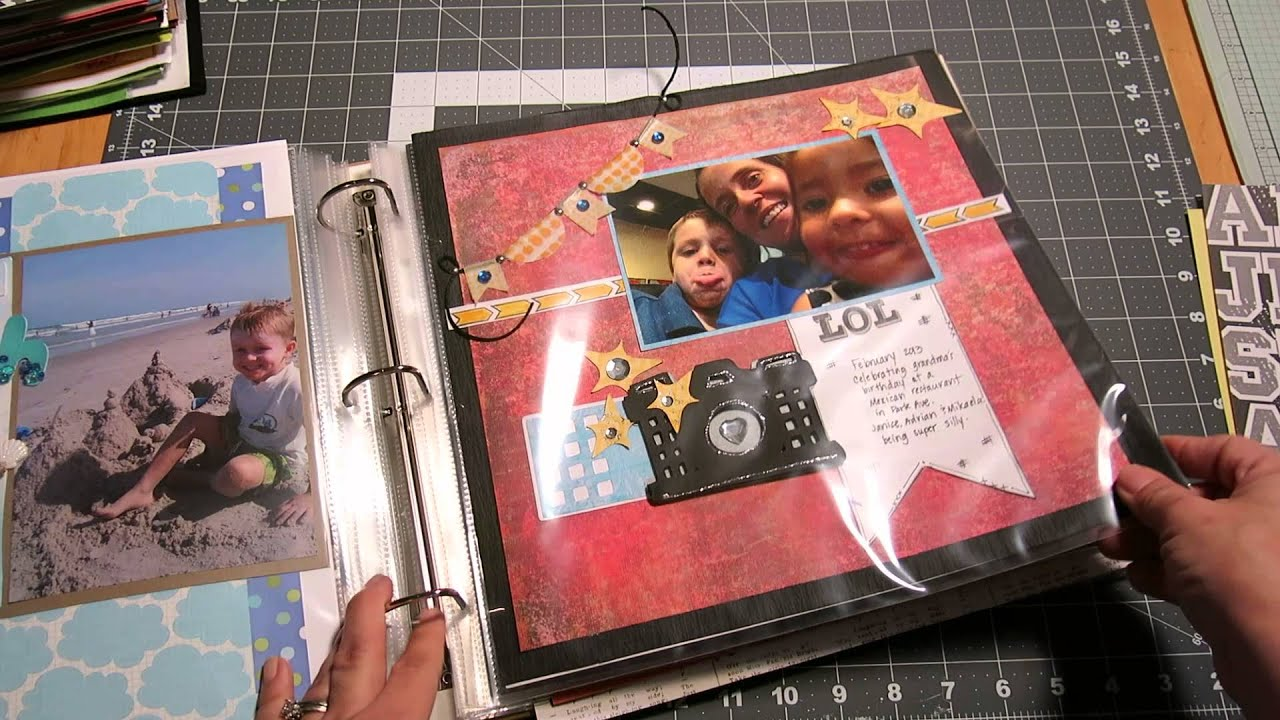 Sharing my my d ring binders youtube for American crafts 3 ring scrapbook album binder