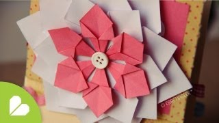 Flor Decorativa Facil // Scrapbook &amp; Origami
