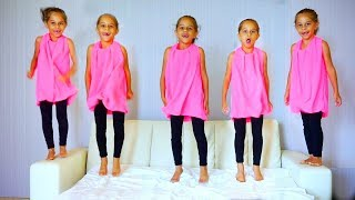 Five Little Monkeys Jumping On The Bed. Children Nursery Rhyme and Songs